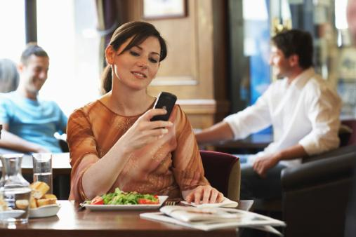 Eating and texting