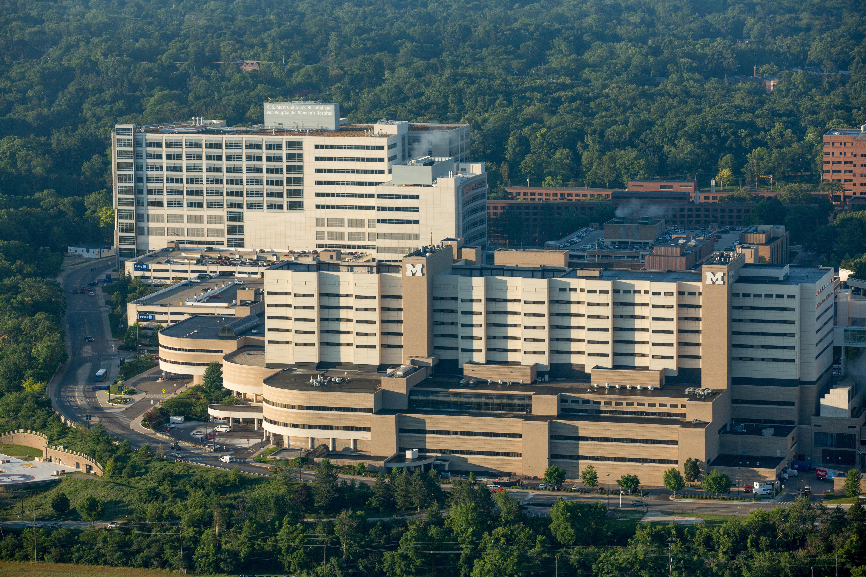 U-M hospitals aerials