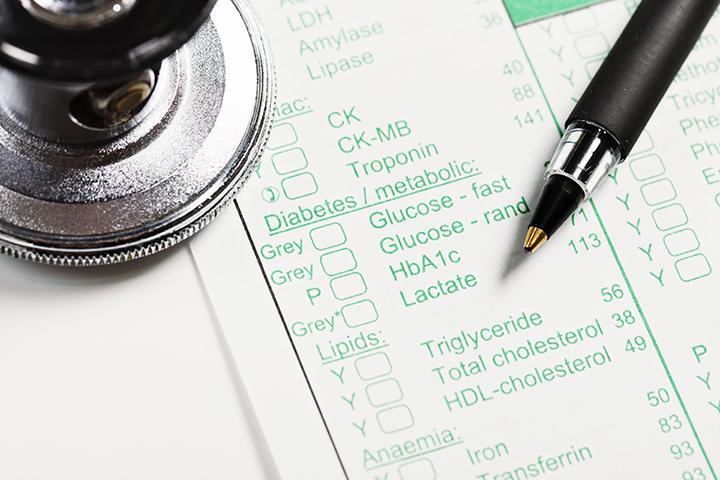 Diabetes test order