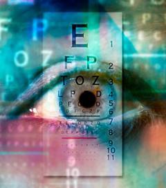 eye exam abstract graphic