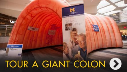 Tour giant colon graphic