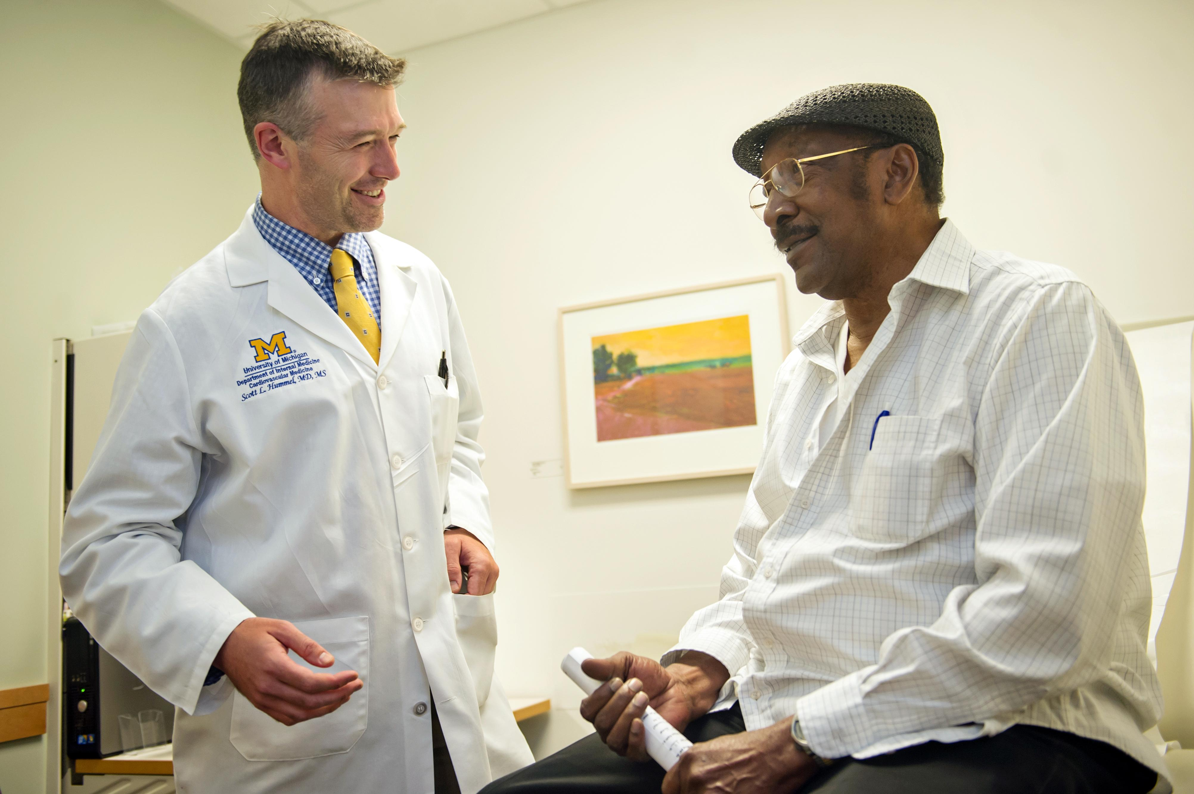 Dr. Hummel with patient