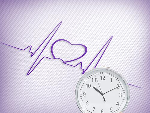 Heart care clock