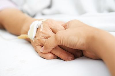 Hospital patient hands