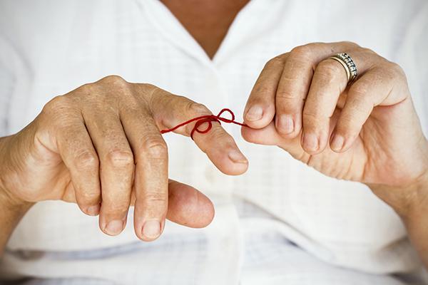 Memory finger string