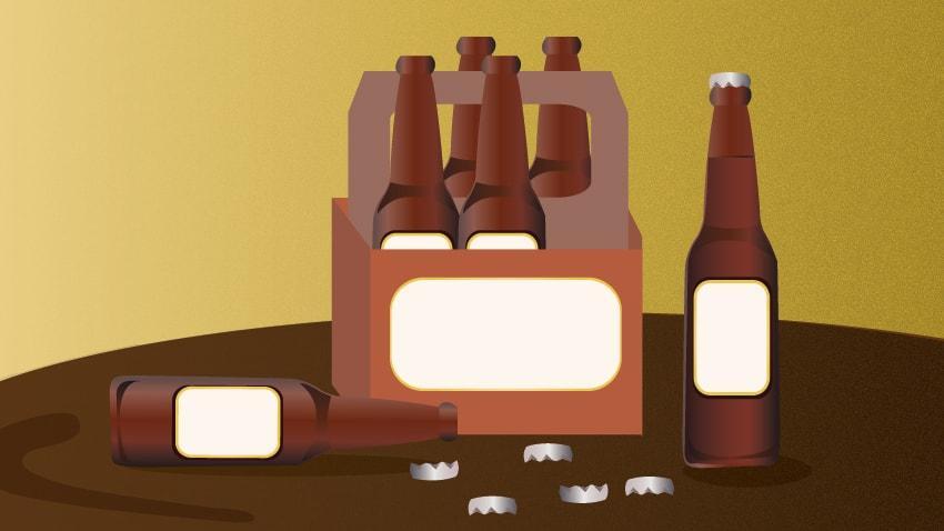 Graphic of beer bottles