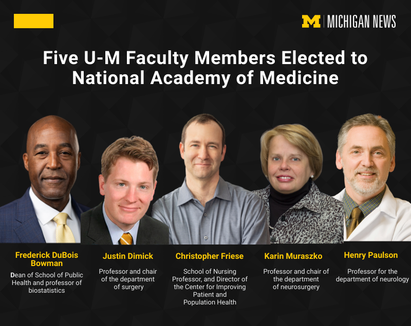 Five U-M faculty members elected to National Academy of Medicine
